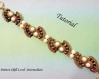 TAIPAI beaded bracelet beading tutorial beadweaving pattern seed bead beadwork jewelry beadweaving tutorials beading pattern instructions