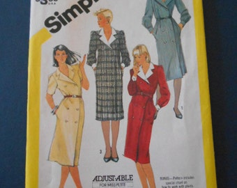Simplicity 6077, Shirt Dress, size 8