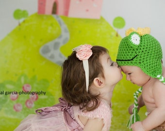 Crochet Frog Prince Beanie/Hat