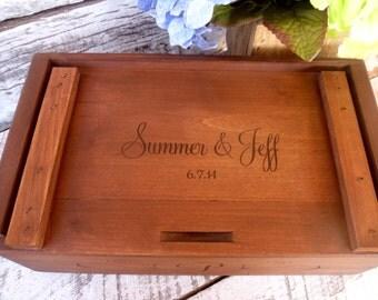 Wine Box,Wedding  Wine Box, Gift for Bride and Groom, Custom Wine Box, Engraved Wine Box, Love Letter Box, Wedding Wine Ceremony Box,
