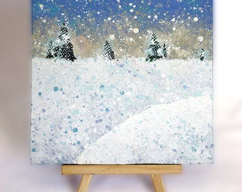 6x6 Snowscape with Easel
