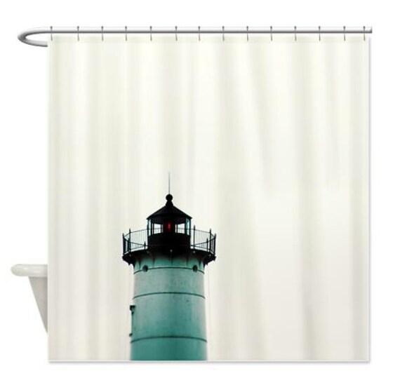 Shower Curtain Nautical Shower Curtain Lighthouse York Maine