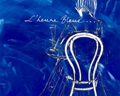 Sale - L'Heure Bleue Fine Art Giclee Print Greeting Card