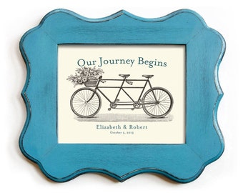 Unique Wedding Gift - Unique Engagement Gift - Gift for Newlyweds - Wedding Decor - Gift for Couples - Bicycle for Two - Bridal Shower