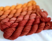 "Gradient Mini Skein Set - ""Golden Yellow Cranberry"""