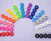 10 Colored Grommets for DIY Mason Jar Cups, Tumblers, Silicone Grommets Food Safe, Rubber Grommets