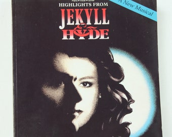 Jekyll and Hyde Broadway Musical, Used Piano Vocal Guitar Music, Songbook, Sheet Music, Musical Theater, Show Tunes