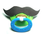 Black Mustache pacifier 18 to 36 months