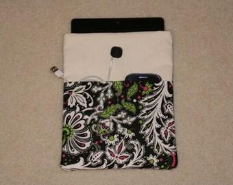 iPad Case with 2 pockets - Paisley print - iPad Sleeve - iPad 2 - iPad Air - iPad 3 - Padded Case -  Padded Sleeve - Teacher Gift - Gift