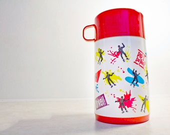 90s Urkel thermos - Vintage w/ flip top sipper - made by Aladdin - Family Matters Steve