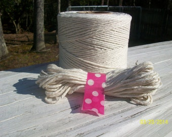 Cotton Twine, 25 yards Twine, Natural Twine, Bakers Twine, Natural Bakers Twine, Packaging, Cotton String