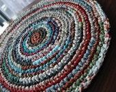 Multicolor handmade circle rug