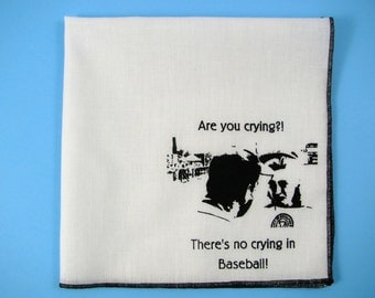 Hankie League of their own shown on super soft white cotton hanky-or choose from any solid color or plaids shown in pics