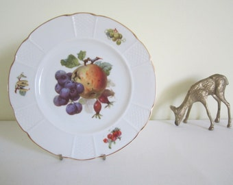 ANTIQUE 1920s ROSENTHAL plate - dessert, cake, fruit, display