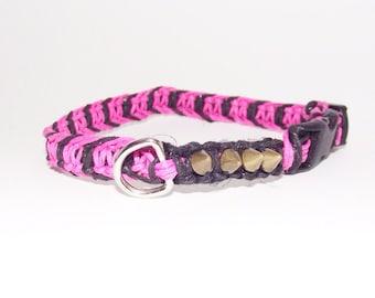 Hemp Cat Collar Punk Rock Kitty Pink Black
