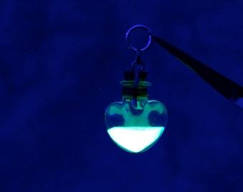 Custom Heart Bottle Firefly Lantern Necklace