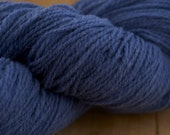 IN STOCK!!!  Bedfordshire Wool Company Southdown 4-ply knitting yarn Deep Blue (100g hanks)