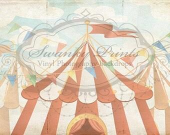 20ft x 12ft Vinyl Photography Backdrop / Custom Photography Prop / Vintage Circus