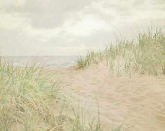 Beach Photography, Seaside Photo, Coastal Wall Art, Sea Grass Photograph, Beach Path Picture, Neutral Decor
