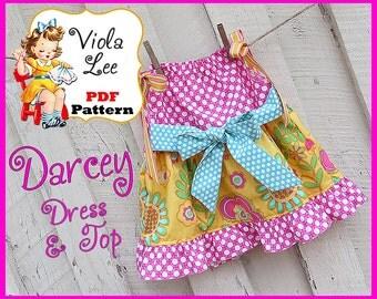 Pillowcase Dress Pattern & Pillowcase Top Pattern. Girl's Dress Pattern. Toddler Dress Pattern. Pdf Sewing Pattern. Instant Download. Darcey