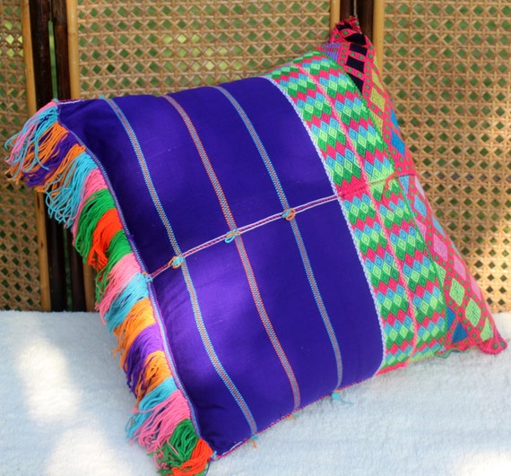 XL Bohemian Style Floor Pillow / Cushion by SiameseDreamDesign