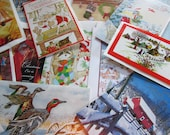 CLEARANCE Nostalgic Lot of 20 Holiday Vintage Christmas Cards Unused