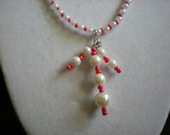 Pearl Coral Salmon Necklace