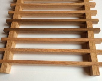 Handmade Walnut and Oak Hardwood Trivet