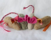 Fuzzy Upcycled Catnip Mouse