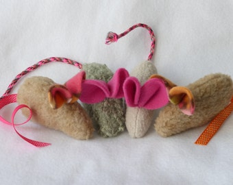 Fuzzy Upcycled Catnip Mouse