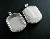 5pcs 13x18mm setting size steam punk watch movement silver DIY base pendant charm bezel tray DIY supplies 1431015