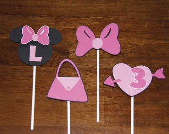 Minnie Mouse Cupcake or Cake Toppers