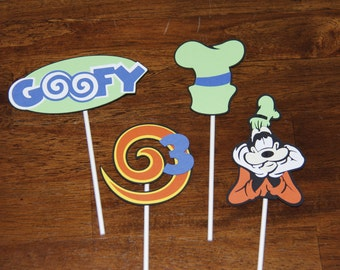 Goofy Cupcake or Cake Toppers