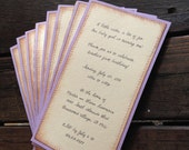 Vintage Birthday Party Invitations, Set of 10, lavender Baby, Old Book Pages, Winnie the Pooh, Someday, Peter Rabbit, Baptism, baby shower