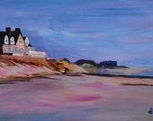Long Island Beach Scene - Hamptons South Fork Beach Walk with House I - Limited Edition Fine Art Print