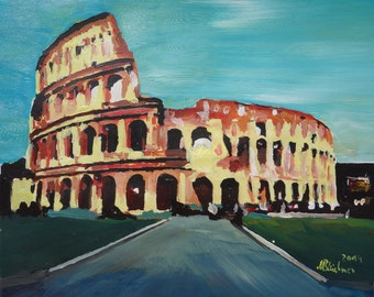 Monumental Coliseum in Rome Italy - Limited Edition Fine Art Print