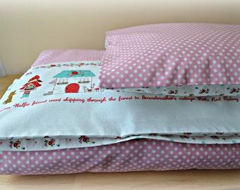 Toddler Duvet Cover & Pillow Sham, Crib Bedding, Girl Bedding