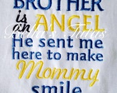 He sent me here to make mommy Smile