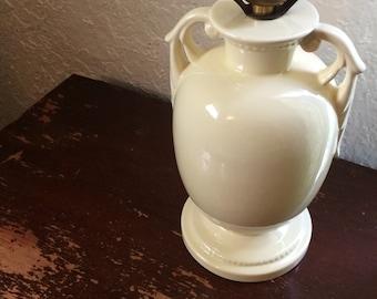Pale Yellow Art Nouveau Table Lamp