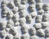 12 Pressed Paper Pulp  German China Doll Paper Heads