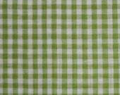 """Lime Green and White Gingham Seersucker 45"""" Wide 1yd"""