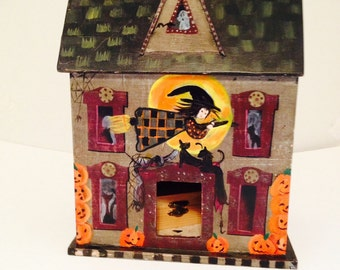 Wooden haunted house