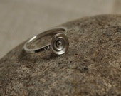 SALE Sterling silver hand forged ring, unique, size Q (USA 8)
