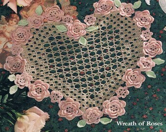Wreath of Roses Crochet PDF file Instant Download, PDF Pattern