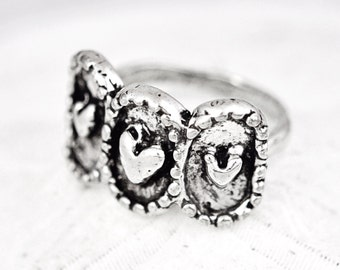 Past Present and Future Ring - Inspirational Jewelry -Heart Ring- R336
