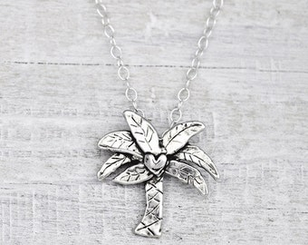 Palm Tree Necklace - Inspirational Jewelry - Beach Necklace - Island Cowgirl - N607