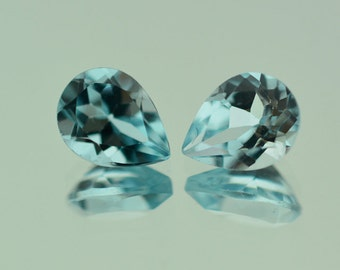 1.48 Ct Natural Light Sky Blue Topaz Gemstone Faceted Pear Size 9x6 mm