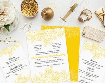 printable bilingual vietnamese wedding invitation set, Wedding invitations