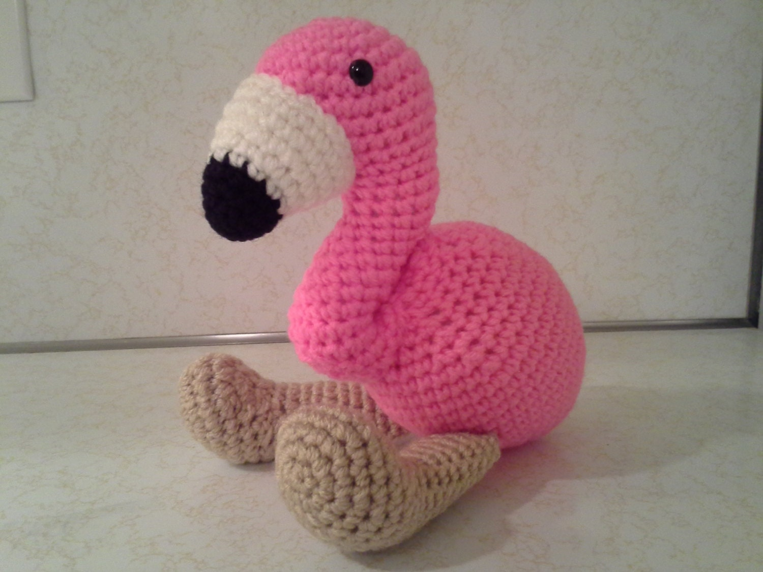 Amigurumi Stuffing : Flamingo Crochet Amigurumi Stuffed Animal by HookAndStitches