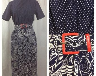 Kooky Cali Dress 1980s M/L